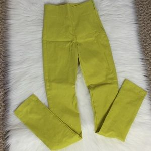 Pants - High Waisted Lime Colored Pants