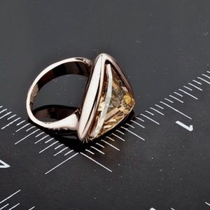 Nadri Jewelry - Swarovski inspired rose Austrian crystal ring