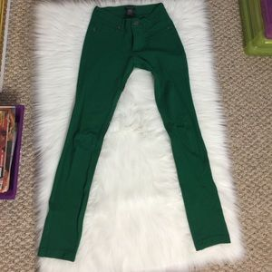 Pants - Kelly Green Stretchy Skinny Pants