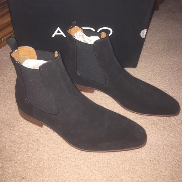 427c02e0b87a6 New Aldo Mens Size 10 Suede Chelsea Boots NWT