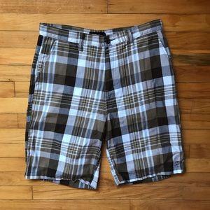 Split Other - Men's Split plaid shorts