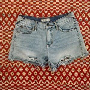 Free People cut off denim shorts