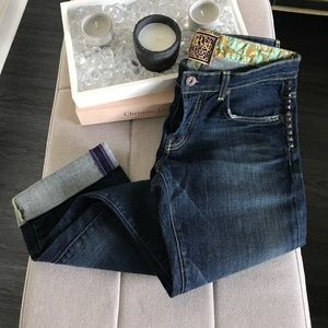 Rich & Skinny Denim - Rich & Skinny Super Studly Boyfriend Crop Jeans