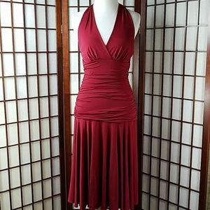 BCBGMAXAZRIA Ruched Halter Dress