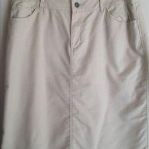Coldwater Creek Tan Skirt