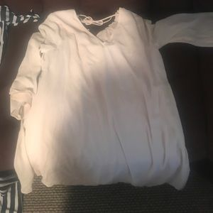 Romper and creme dress