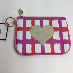 Dabney Lee Accessories - Dabney Lee Key Chain Wallet Plaid Gold Heart NWTs