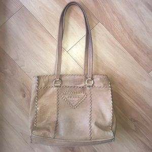 Prada Shoulder Purse in Tan *Vintage