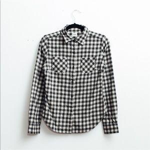 Uniqlo Tops - UNIQLO | Plaid Flannel Off-White Button-Up
