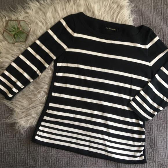 rag & bone Tops - Rag & Bone Variegated Stripe Knit Top
