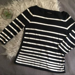 Rag & Bone Variegated Stripe Knit Top