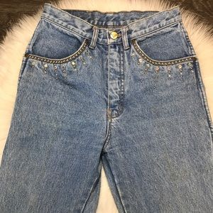 6269207d97f Pepe Jeans Jeans | Vintage 80s Pepe High Rise Rhinestone Mom | Poshmark