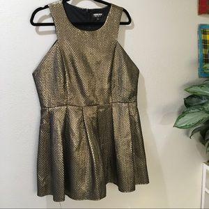 Fashion Union Dresses & Skirts - Fashion Union Gold Dress