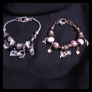 🌼BUNDLE🌼'bag charm' and 'awareness' bracelets
