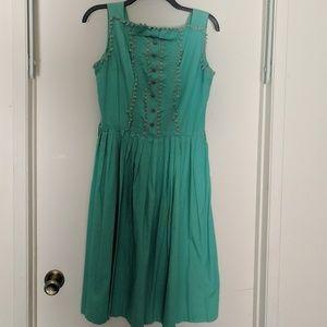 Turquoise Handmade Vintage 50's Dress