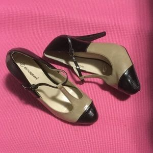 Primark Shoes - New, Never worn. Tan and black faux leather heels