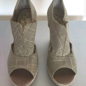 Seychelles Shoes - Canvas Wedgies