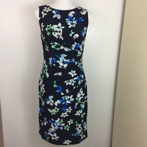 Ralph Lauren floral flower print Dress size 6 Navy