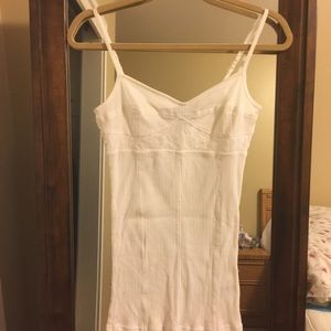 Trouve Tops - Trouve Cream Tank Top