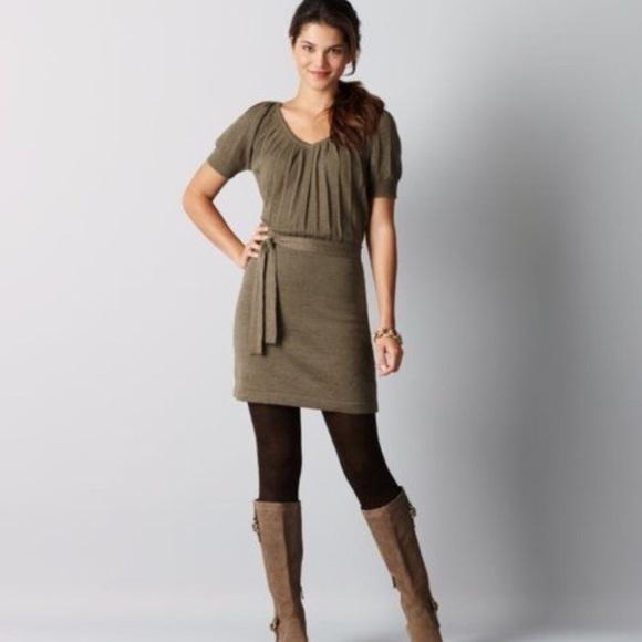 ede12d23aed LOFT Dresses   Skirts - LOFT ANN TAYLOR sweater dress in olive green