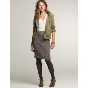 J.Crew Timber Tweed pencil skirt sz 4. Gorgeous!