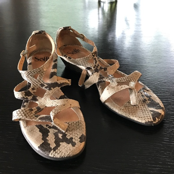 Sofft Shoes - Sofft Python Print Sandals