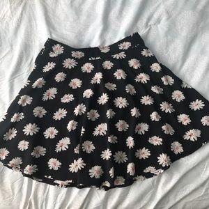 Black floral skater skirt!