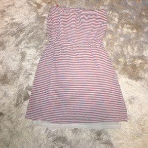Aqua Dresses & Skirts - Pink Striped Dress