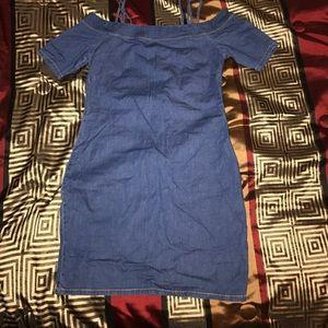 Fashion Nova Dresses & Skirts - Denim Off the Shoulder Dress