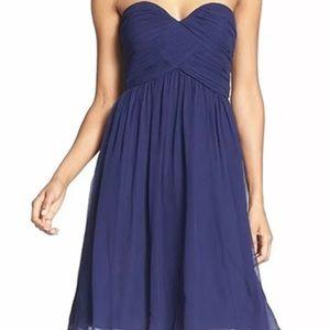Donna Morgan Dresses & Skirts - Donna Morgan Navy Blue Bridesmaids Strapless dress