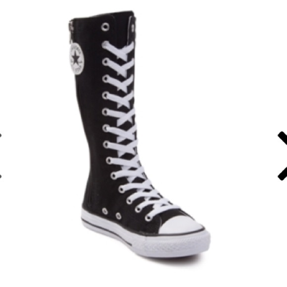 Converse Other - Converse girls boys high top tall boots sneakers 2 e6585dd32