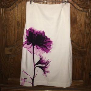 Worthington Dresses & Skirts - Flower pencil skirt.