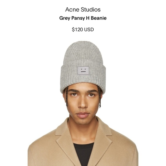 Acne Studios Accessories - Pansy Wool Beanie 2c5193647da