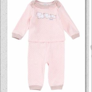 Absorba Other - Baby Girls 2pc Dot Print Layette Set