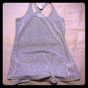 Shiny silver tank top, never been worn