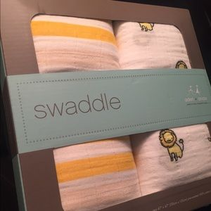 aden + anais Other - Aden & Anais Striped/Lion Muslin Swaddle Blankets!