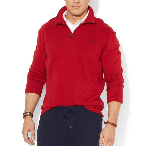 50% off Polo by Ralph Lauren Other - Red Polo Pullover Half Zip ...