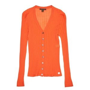 Louis Vuitton Orange Ribbed Cashmere Sweater