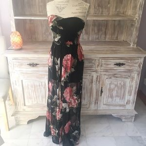 "Boutique Dresses & Skirts - •new• NWOT ""Rose Garden"" floral maxi romper dress"