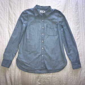 Old Navy Light Wash Chambray Shirt XS