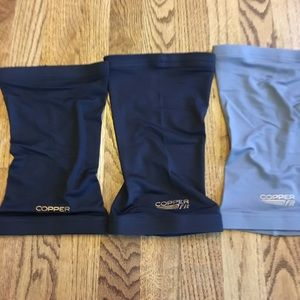 copper fit  Other - Copper fit 3 knee support sleeves grey/black xl
