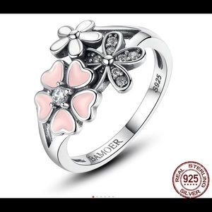 Jewelry - Poetic Daisy Cherry Blossom ring stamped 925