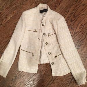 Zara Jackets & Blazers - Zara white tweed jacket