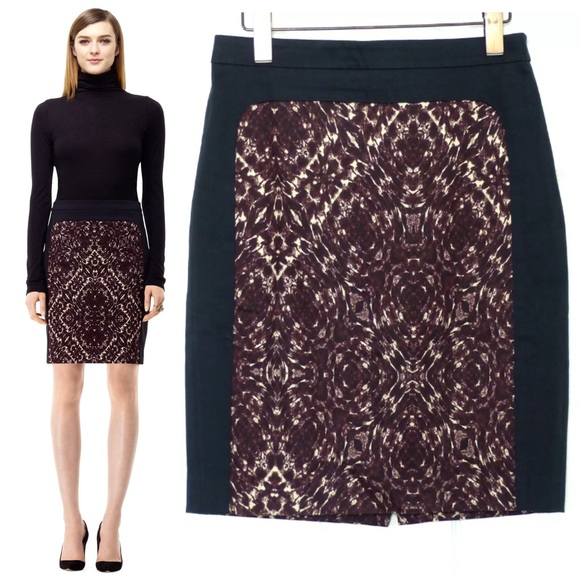 75 club monaco dresses skirts club monaco edith black maroon print pencil skirt from