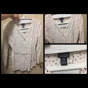 Motherhood Maternity Heart Pattern Tunic Sz Large