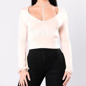 Fashion Nova Tops - NWT long sleeve choker top