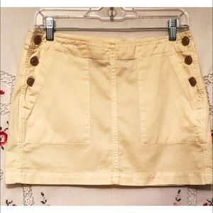 Lucky Brand Mini Skirt Cotton Front Pockets 4/27
