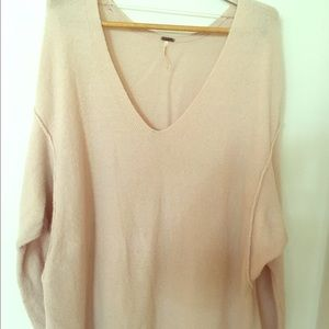 Comfy Oversized Free People Sweater Pink M