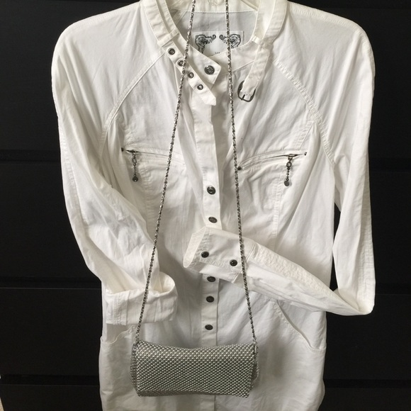 84 Off Tops Vintage Guess Jeans Stretch Long Sleeve Top