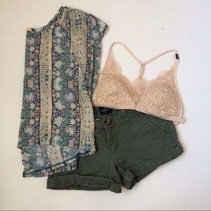 (2) AE Olive Shorts